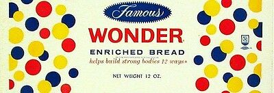 Vintage bread wrapper BLUE SEAL WHITE 1955 Interstate Kansas City new old stock