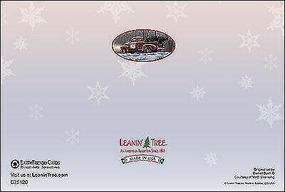 Old Truck /& Covered Bridge Theme Leanin/' Tree Christmas Card ID#369