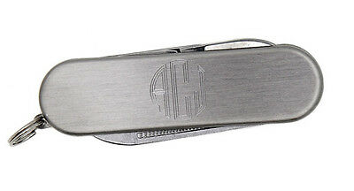 Monogram Personalized Simple Pocket Knife with 3 Tools for Men Wedding Party
