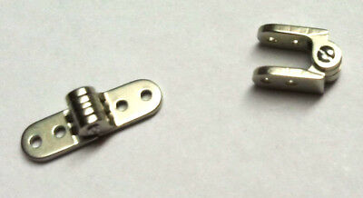 4 Paare Mini Schraubscharniere 8 mm breit Brillenscharnier Metall Nietscharnier