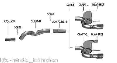 BASTUCK-DuplexEndschalldämpfer OPEL Astra-J 5-Türer+GTC 2x120x80mm Oval