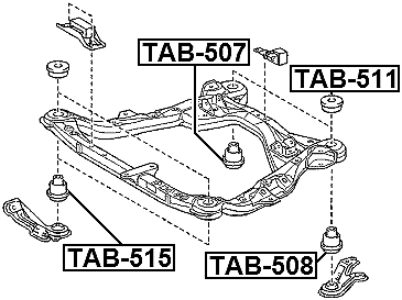 Body Bushing 52201-35090 Febest # TSB-LC90-1 YEAR WARRANTY