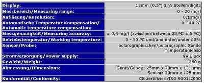 Sauerstoffmeßgerät/sauerstoffmessgerät Aquarium Sa1 3