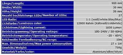 LED-BELEUCHTUNG AQUARIUM PowerLED 90cm SIMULATION TAGES-/MONDLICHT HQI T8 AB5 12