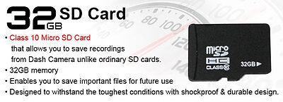 """Elinz Dash Cam Dual Camera Reversing 4"""" Recorder Car DVR Video 170° 1296P 32GB 2"""