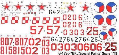 1//72 MISTERCRAFT SUKHOI Su-7 BKL FITTER A POLISH, CZECHOSLOVAK /& SOVIET MKGS