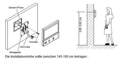 Wlan Wifi Video Türsprechanlage 2Draht Bus 7 Zoll Videospeicher Kamera 170° 6