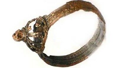 Medieval Roman Byzantine Constantinople Istanbul Intricate Crown Ring AD900 Sz8 5