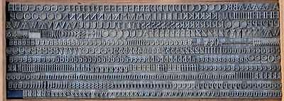 7,5 mm Bleischrift Bleisatz Buchdruck Handsatz Alphabet Schrift Letter Lettern 2