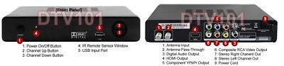 Digital Antenna TV Receiver + DVR Recorder For Broadcast Channels 1080p 3