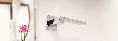 Maniglie per porte interne Linea Calì Stream moderna quadrata cromo lucido