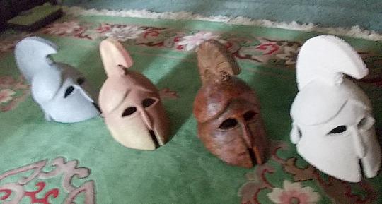 Ancient, Greek helmet Metal A copy 14.2 inch 7