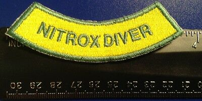 Diver Down Oval Nitrox Scuba Patch 3x2.5 Embroidered applique Enriched Air Wreck