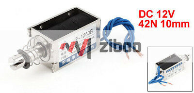 JF-1253B DC 12V 450mA 10mm Pull Open Frame Wired Electromagnetic Solenoid 3