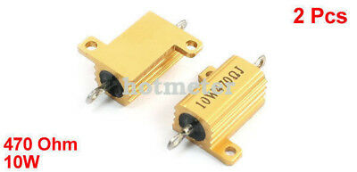 H● 2*  Aluminum Housed Clad Wirewound Resistor 470 Ohm 10 Watt. 4