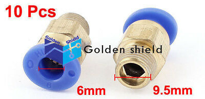 10Pcs PC6-01 Air Line Hose 1/8BSP Male Thread 6mm Tube Quick Release Coupler Fit 2