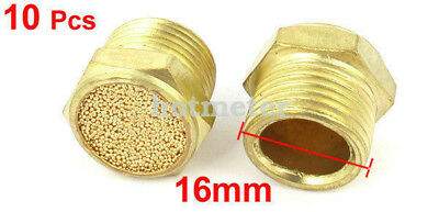 H● 10* Flat Pneumatic Noise Muffler Filter Sintered 3/8PT Male Thread 2