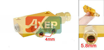 Air Pneumatic Brass Adjustable 2 Ways Distributor Manifold Block