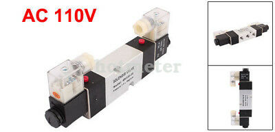 H● 4M320-08 AC110V 2 Position 5 Way RC1/4 Neutral Air Selector Solenoid Valve. 2