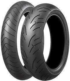 Road Tyre Package - Bridgestone BT023 front & rear tyres 120/70ZR17 & 180/55ZR17