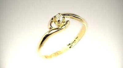 19thC Antique 3mm Diamond Ancient Greek Tears of Gods Roman Star Splinters 14kt 4