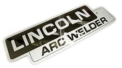 Lincoln SA-200 SA-250 Mirrored Stainless Steel Name Plate BW682