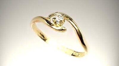 19thC Antique 3mm Diamond Ancient Greek Tears of Gods Roman Star Splinters 14kt 2