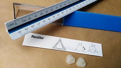 NESTLER College 6623 Vermesser Kartograph Reduktionsma/ßstab Dreikantlineal 300mm