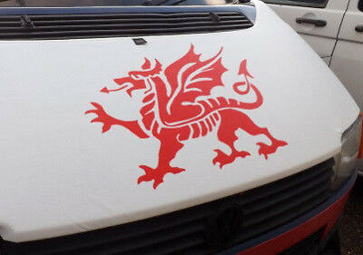 LARGE car bonnet wales welsh dragon  vinyl van side sticker wall art decal boat