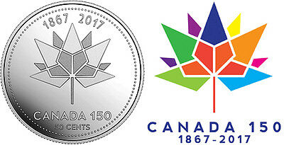 CANADA 2017 New 50 cents 150th Anniversary of CANADA 1867-2017 (BU From roll) 2
