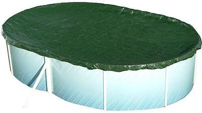 Pool Abdeckplane / Poolabdeckung 180g/m² für Oval + Achtform 725 - 737 x 460 cm