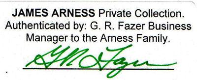 James Arness Gunsmoke Marshal Dillon  Early Studio B/W 8 x 10  Photo  Signed 2