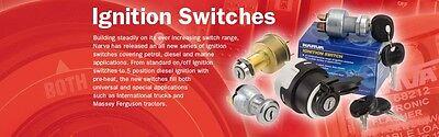 Narva 4 Position Ignition Switch Brass Spring Return and 2 Keys 12V Marine 64012