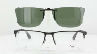 dabeeb665ba ... Custom Fit Polarized CLIP-ON Sunglasses For RAY-BAN RB6335 56x17-T RB