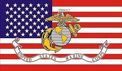 PringCor 3x5FT Marine Corps American FLAG USMC Marines Banner US USA Military 2