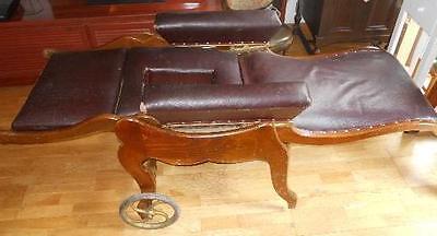 antigua silla de , médico, para clínica . Pieza rarísima de museo. Luneville. 6