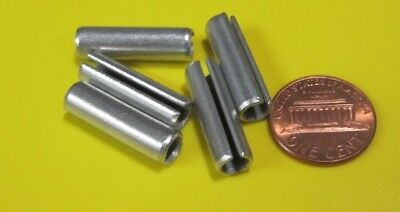 """Zinc Plate Steel Slotted Roll Spring Pin, 1/4"""" Dia x 7/8"""" Length, 100 pcs 4"""
