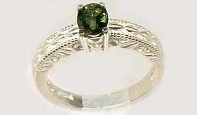Antique 19thC ¾ct Sapphire Ancient Roman Gemstone of Saturn God of Abundance 925 2