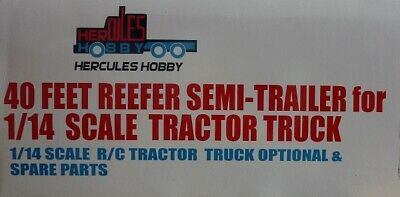 Hercules Hobby 40 Foot Reefer Semi-Trailer 3 Axle 1:14 Tractor Truck #HH-140412