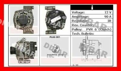 ALTERNATORE NUOVO 90AH FIAT DOBLO/' 1.3 MJET DAL 2005 62KW 85CV CODICE 63377019