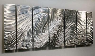 ... Modern Abstract Silver Corporate Metal Wall Art Sculpture Original Jon  Allen 4