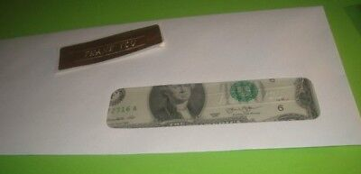 #2 two NEW CRISP Uncirculated U.S.A. $2.00 TWO Dollar THANK YOU embossed Notes 5