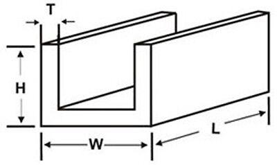 K/&S Brass C Channels 300mm Long 1//8 #9885 3//16 #9886 1//4 #9887 Precision Metals