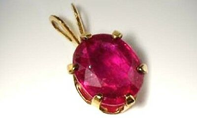 Antique 19thC 2¼ct+ Ruby Medieval Magical Medicine Danger + Anti-Poison Talisman 5
