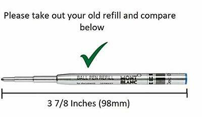 5 - Ballpoint Smooth Flow Refills for MONTBLANC PEN - BLACK Medium 3