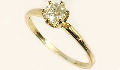Antique 19thC ½ct Siberia Diamond Medieval Royal Gem Fearless Virtue Emblem 14kt 5