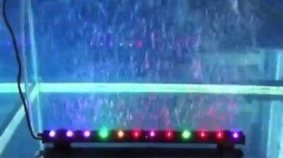 Striscia Di 10 Luci A Led Multicolore Con Bolle D'aria Ad Immersione X Acquario