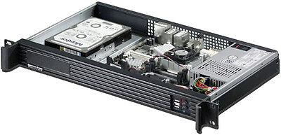 "Rackmount Chassis ITX D:9.84/"" Case 2xHDD Case NEW SS-250SU PSU 2x4cm Fan 1U"