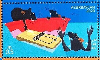 YEAR OF THE RAT 2020 Azerbaijan stamps Azermarka 3
