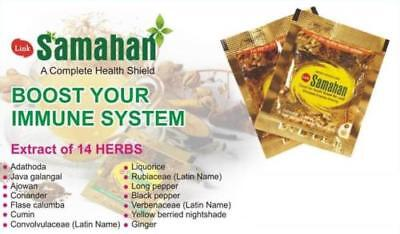 Link SAMAHAN Ayurveda natural REMEDY herbal drink 100- sachets for Cough& Cold 5